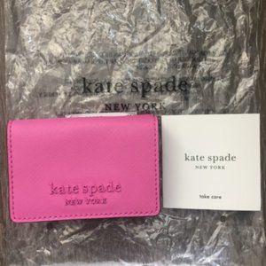 Kate Spade monotone micro tri fold wallet